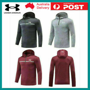 Under Armour zipper Mens Hooded Sweatshirt Half Pullover UA Jumper Hoody Hoodies
