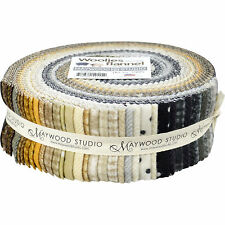 Maywood Studio Woolies Flannel Neutrals Jelly Roll ~ 40 2.5-Inch Strips ~ Fabric