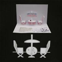 Stanzschablone 3D Stuhl Tisch Hochzeit Weihnachten Geburtstag Oster Karte Album