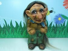 "WOMAN w/TAIL - 9"" Krage Troll Doll - Made In Norway - Super Rare"