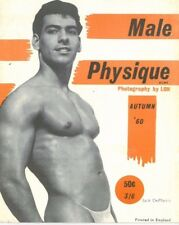 Male Physique No.6 Autumn 1960 by Lon, Vintage British Edition Gay Magazine