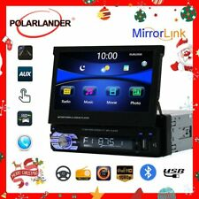 Retractable 1 Din 7 inch Car Radio Mirror Link Audio HD Touch Screen MP5 Player