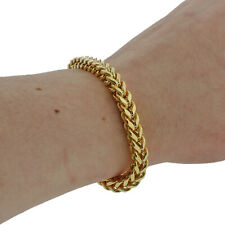 "9ct Gold New Child's Foxtail Bracelet -7""-5 mm -12g Hallmark RRP £490 {CL145}"