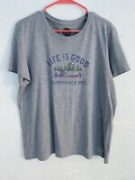 Life Is Good Adirondack Mountains T-Shirt Size XL