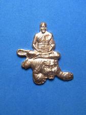 0255-THAI AMULET BUDDHA LP PERN RIDING TIGER LP SUM ANG