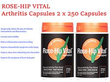 2 x 250 Capsules ROSE-HIP VITAL with GOPO Arthritis Pain Relief ROSEHIP