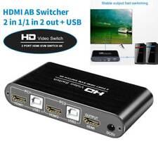 2 Port HDMI KVM Switch 4K HD Video Switcher Splitter for HD Display Monitor New