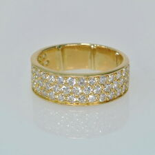 Ladies 18k Yellow Gold Pavè 1/2 Cttw Diamond Cluster Band Estate RIng Size 5 1/4
