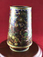 Antique Vintage Chinese & Or Other Asian Cloisonne Vase Enamel Bottom Gold A6