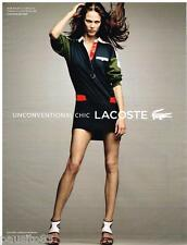 PUBLICITE ADVERTISING 105 2012  LACOSTE pret à porter robe RUGBY VANESSA PARADIS