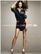 PUBLICITE ADVERTISING 105 2012  LACOSTE pret à porter robe RUGBY VANESSA PARADIS
