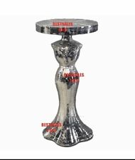 Silver Mosaic Mirrored Table Modern Dress Stand Bedside bling Romany Gift UK