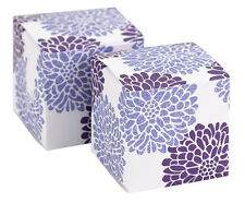 NEW Purple Square Floral Favor Boxes Wedding Graduation Party