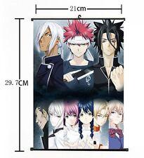 "HOT Japan Anime Shokugeki no Soma Ryou Home Decor Poster Wall Scroll 8""×12"" 01"