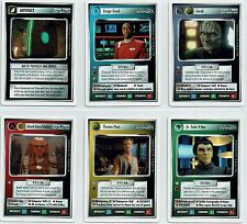 STAR TREK CCG FIRST ANTHOLOGY 1, SET OF 6 LIMITED CARDS