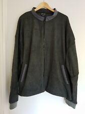 Mens Fleece Jacket Size 2XL Dark Grey Unbranded <FF590z