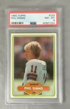 TOPPS 1980 225 PHIL SIMMS GIANTS ROOKIE RC FOOTBALL NEW CARD YORK PSA 8