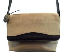 NWOT ROLFS HANDBAG SHOULDER BAG FLAP PURSE GRAY CANVAS FAUX LEATHER MEDIUM
