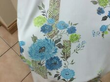 VINTAGE PRETTY FLORAL  PAIR OF  CURTAINS  Silky Shine Good Condition