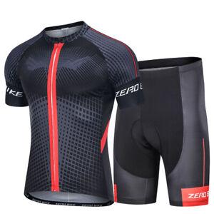 Men Cycling Jersey  Bike Clothing Half Sleeve Cycling Shorts Set