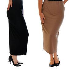 Full Length Viscose Patternless Formal Skirts for Women