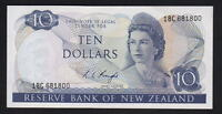 New Zealand P-166c (1975-77) 10 Dollars -  Knight.. 18C Prefix.. aU-UNC