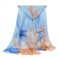 Chiffon Small Silk Thin Scarf Ladies Sunscreen Shawl Sectangular Scarf