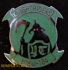 # HMM-164 KNIGHTRIDERS HAT LAPEL PIN UP US MARINES  KNIGHT MAW GIFT WOW USA