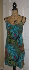 NWT NANETTE LEPORE Peacock Feather Print Sequin Accent SILK Dress SZ 6