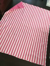 Pottery Barn Kids Striped Twin Quilt - Bright Pink