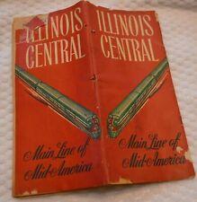 VINTAGE 1953 ILLINOIS CENTRAL RAILROAD TIME SCHEDULES Sept 27 1953