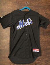 New York Mets Black Jersey Majestic Vintage #8 - Small S - Cool Base - Very Nice