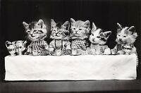 Vintage Fine Art Quality reproduction Postcard, Kittens Tea Party c1900 65X