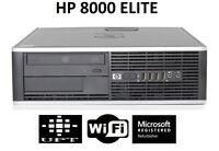 HP 8000 Elite Windows 10 Pro Intel Core 2 Duo 3GHz 160GB WiFi 8GB Desktop