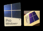 Windows 10 Pro Genuine Sticker Case Badge 16mmx22mm Blue Metallic U.S.A Seller!