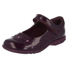 Chaussures habillées violets avec attache auto-agrippant pour fille de 2 à 16 ans