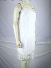 Ralph Lauren Ivory Cream Eyelet Shift Dress with Slip Womens Size XS 02 Petite