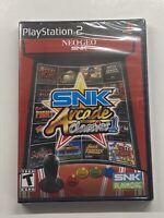 SNK Arcade Classics, Vol. 1 (Sony PlayStation 2, 2008) BRAND NEW SEALED!!