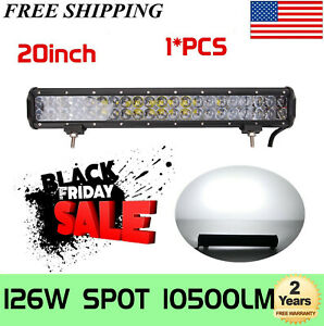 "20''INCH 126W LED Work Light Bar Combo Offroad Pickup Bumper SUV ATV 22"" 24""120W"