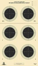 A-51 [A51] NRA Official 50 Yard UIT Smallbore Rifle Target, on Tagboard (22)