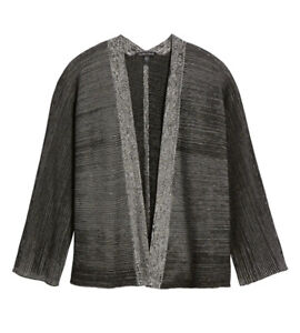 New Eileen Fisher Textured Silk & Organic Cotton Cardigan Size Small MSRP $338