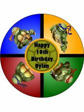 TEENAGE MUTANT NINJA TURTLES 19CM EDIBLE ICING IMAGE CAKE TOPPER
