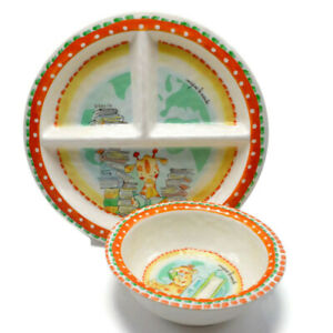 Baby Cie Imagine The World Sectioned Plate and Bowl Giraffe Books Library