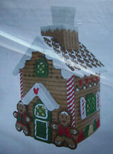 Christmas Gingerbread Tissue Box cover plastic canvas kit
