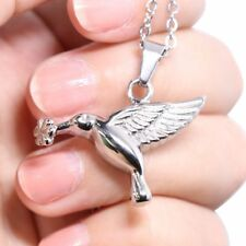Hummingbird Cremation Jewelry Love Bird URN Necklace Memorial Keepsake Pendant