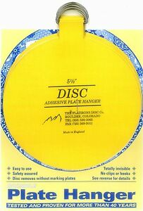 """Original Invisible Disc Adhesive Plate Hangers Set of 4x5.5"""""""
