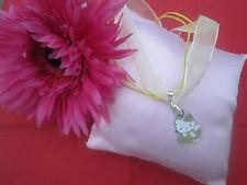★★★ Hello Kitty Kette gelbes Band mit Anhänger grün weiß Kleid Blume süß ★★★