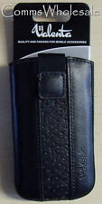 Genuine Valenta Leather  Black Protective Pouch for iPhone 3GS, HTC Desire S etc