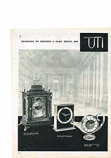 PUBLICITE ADVERTISING   1962   UTI   maitre horloger pendule