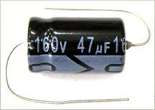 QTY 17 New MIEC 47UF 160V 105C Axial Electrolytic Capacitors